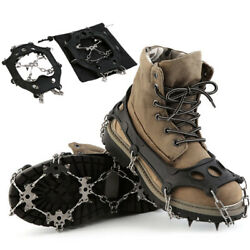 Winter Hiking Ice Climbing Crampons Snow Chains For Shoes Ice Shoe Spikes Shoes $29.69