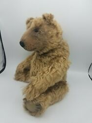 OOAK Mohair Brown Bear 17quot; Makes Noise Growls Cuddly For Adoption $175.00