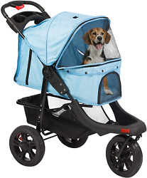 Luckyermore Dog Stroller Foldable Storage Basket Cats Carrier Outdoor Travel $132.99