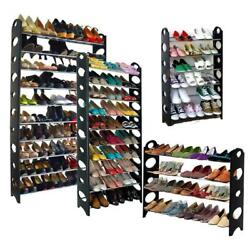 Shoe Rack 6 10 Tier Storage Organizing Home Organizer Holder Tower Wall USA $29.64