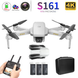 S161 Mini Pro Drone amp;Camera 4K Gesture Photos Video Track Flight Quadcopter E4K0 $63.93