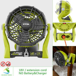 RYOBI 18V Portable Fan Hybrid Compact Electric Power Adjustable Outdoor Cooling $49.50