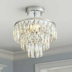 Modern Ceiling Light Semi Flush Mount Fixture Chrome 11quot; Crystal Bedroom Kitchen $199.99