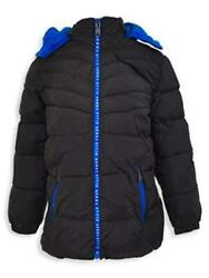 Perry Ellis Boys#x27; Big Novelty Quilted Puffer W Printed Black Size 14 16 IRID $10.50