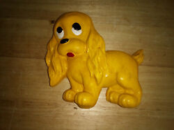Vintage Yellow Dog Wall Hanging Chalkware? or Plaster Cute Child#x27;s Vintage Room $6.99