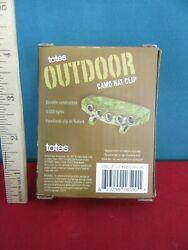 404. TOTES Outdoor Camo Hat Clip 5 LED Lights Clip On to Hat Flashlight Headlamp $7.99