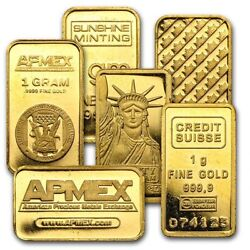 1 gram Gold Bar Secondary Market $74.30