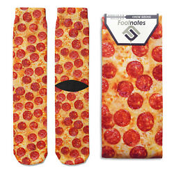 Pepperoni Pizza Crew Socks Footnotes Novelty Socks $12.00