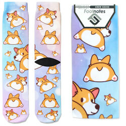 Corgi Dog Crew Socks Footnotes Novelty Socks $12.00