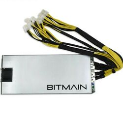 LOT OF 4 Bitmain Power Supply PSU Antminer APW3 for S9 L3 D3 1600w BTC $130.00
