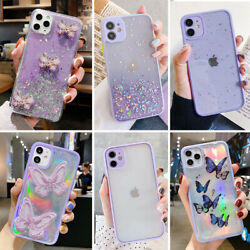 Bling Shockproof Case Clear Cute Cover for iPhone 12 11 Pro Max 8 Plus XR XS MAX $7.90