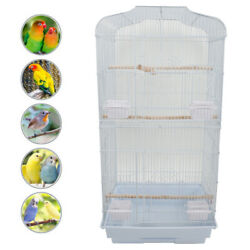 New Tall Bird Parrot Cage Canary Parakeet Cockatiel Finch Bird Cage Tray White $38.29