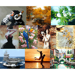 DIY Canvas Oil Art Picture Home Wall Decor Artwork Painting By Numbers Kit Home $10.44