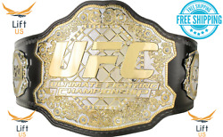 UFC ULTIMATE FIGHTING CHAMPIONSHIP TITLE REPLICA BELT 2MM Brass Dual Plate Adult $129.99