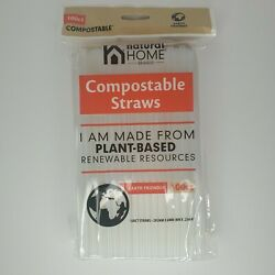 Natural Home Brands Compostable Drinking Straws100 Count Plant Based $6.99