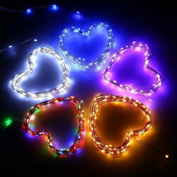 LED Solar String Lights Waterproof Copper Wire Lamp 8 Mode Decorative Light Home