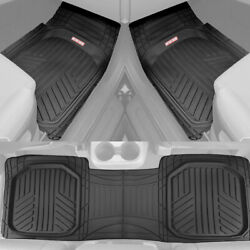 Black Car Floor Mats 3 Piece Set Rubber All Weather Protection for Car Truck SUV $37.90