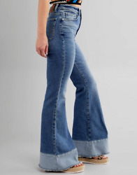 LEE Vintage Modern Canyon Fade High Rise Flare Bell Bottom Jeans Free People NWT $68.00