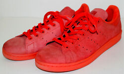Adidas Stan Smith Red Suede Leather Shoes Sneakers Size Men#x27;s 10.5 $29.99