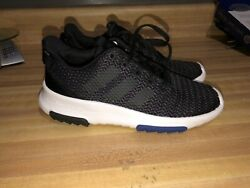 3 Youth Boys Black Adidas Shoes In Great Used Condition Free Shipping $20.00