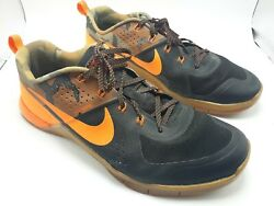 Nike Orange Black Camo Fly wire shoes Men's Size 12