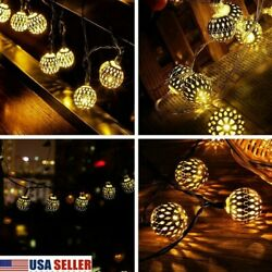 Christmas LED Romantic Fairy String Lights Lantern Solar Powered Halloween Lamps