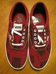 VANS SKATER SHOE; DOHENY LOGO MIX RED; SIZE 12 MEN#x27;S; NEW WITHOUT BOX $39.95