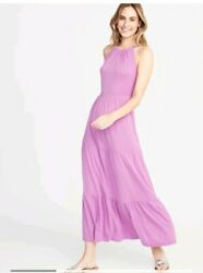 New Waist Defined Tiered Jersey Maxi for WomenSize XS $20.60