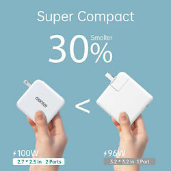 CHOETECH USB C 100W 2 Port Type C Wall Charger PD 3.0 GaN Tech Foldable Adapter $51.38