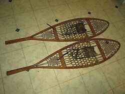 Vintage pair of Penobscot Special wooden Snowshoes $85.00