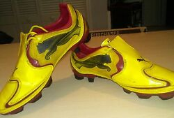 Puma v1.10 Boys Soccer Cleats Boots Yellow Size 4 $8.95