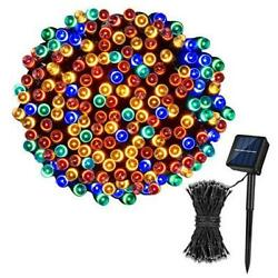 Solar String Lights72FT 200 LED 8 Modes Solar Powered Christmas Lights Outdoor
