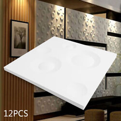 12Pcs Simple 3D Wall Sticker Panels Self adhesive Home Wallpaper Background $23.03