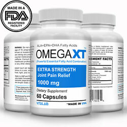 Omega XT Extra Strength Joint Support New Omega 3 Joint Pain Relief 60ct $15.88