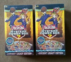 2 New YUgioh Mystery Power Box 10 Booster Packs ANCIENT LEGACY Edition $99.99