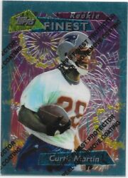 1995 Topps Finest CURTIS MARTIN #264 Rookie Card RC with Protector Coating HOF $20.00