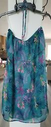 TROPICAL FLORAL SWIMSUIT COVER UP ONE SIZE $11.69