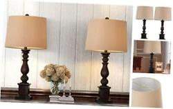 Table Lamp Set of 2 for Bedroom Rustic Bedside Table Desk Lamps for Living Room $119.90