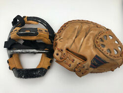 Vintage Wilson Catchers Metal Mask and Spalding Glove 42 7931 Bob Didier 544 $74.95