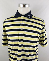 Footjoy Mens FJ Collar Striped Polo Golf Shirt Sz Medium M $33.96