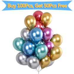 Buy 100PCs Get 150PCs 12inch Thickened Metallic Latex Balloons Party Decor $8.98