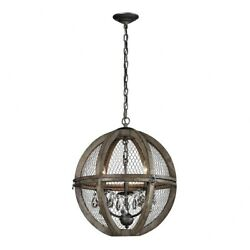 Renaissance Invention Three Light Small Chandelier Aged Wood Bronze Finish $442.08
