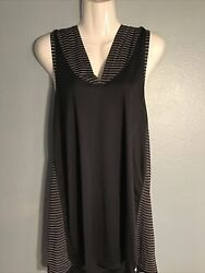 Nike Women#x27;s Large Knit Swimsuit Cover Up Hoodie Dress NESS9355 001 Black $32.99