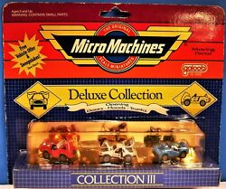 EARLY 1986 1988 quot;DELUXE III COLLECTIONquot; GALOOB MICRO MACHINES W JEEP BACKCARD $55.00