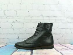 Canada North Womens Black Leather Lined Lace Up Ankle Boots Size 10 M $45.00