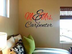 Mr. amp; Mrs. Wall Art Sticker Customized Anniversary Wedding $10.50
