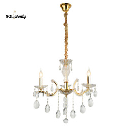 Modern Gorgeous Crystal 3 Light Ceiling Chandelier Pendant Fixtures Dining Room $119.99