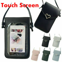 Womens Cross body Bag Touch Screen Cell Phone Wallet Shoulder Bag Leather Pouch $7.59