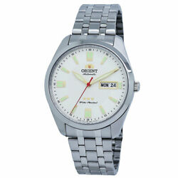 Orient Tri Star White Dial Stainless Steel Men#x27;s Watch RA AB0020S $95.00