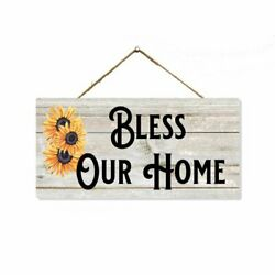 Bless Our Home Sign Rustic Christian Decor House Wall Gift Prayer SP 05100001011 $14.95